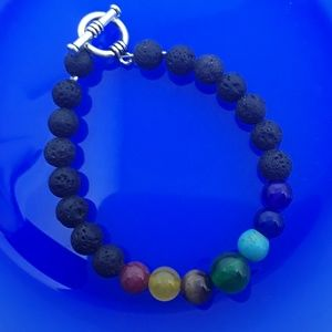 Aromatherapy Chakra Rainbow Bracelet